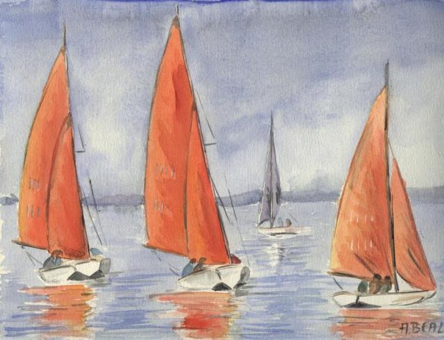 Etang du Ponan, Grau du Roi, aquarelle.Photo 032