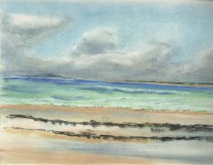 laisses de mer, plage de la Baule, pastel
