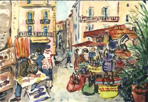 le Portalet, Hyères, aquarelle