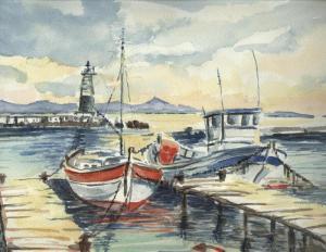 Port Pothuau, Les Vieux Salins, Hyères, pastel