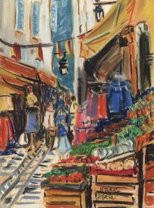 rue Massillon, Hyères, pastel