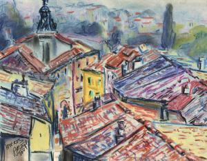 vieille ville de Hyères, pastel