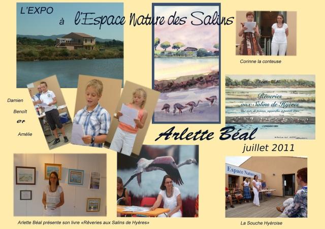 Exposition à l'Espace Nature des Salins de Hyères juillet 2011