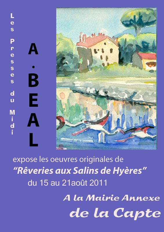 affiche de l'exposition d'août 2011sur les Salins de Hyères à la Capte