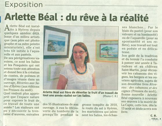 """Var matin et l'exposition """"Rêveries aux Salins de Hyères"""""""
