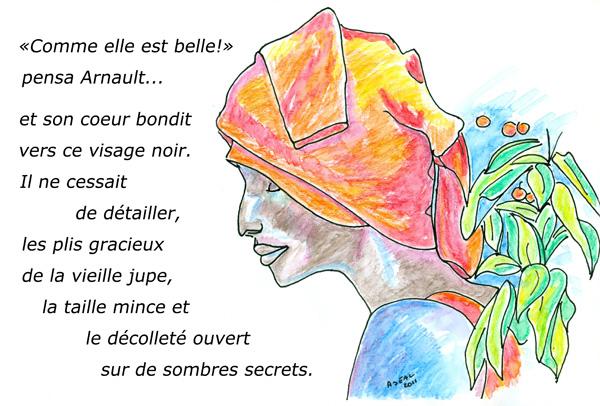 Où Arnault découvre sa belle. crayons aquarelles