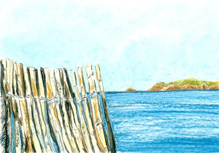 Presqu'île de Giens, Hyères n°2, pastel doux, tous droits réservés