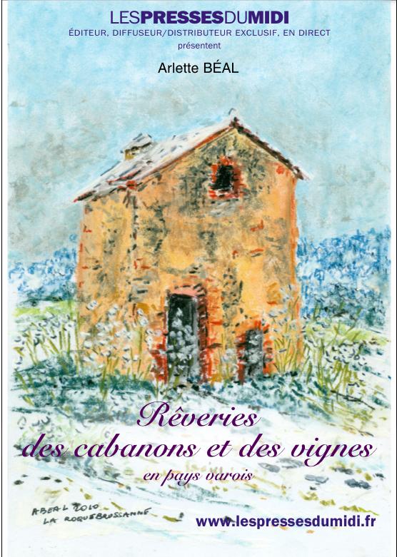 l'affiche pour le livre des cabanons et des vignes réalisée par les Editions Les Presses du Midi