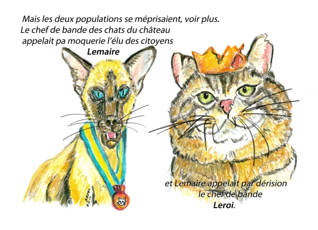 Leroy et Lemaire, deux chats héros de mon prochain album pour enfants. crayon pastel.