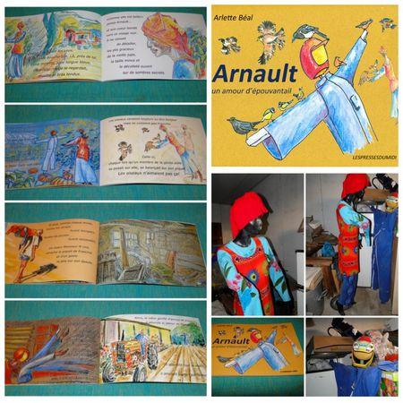 Arnault et Francine, épouvantails héros d'un album pour enfant.Tous droits réservés