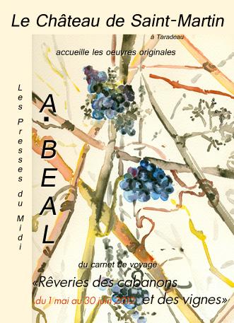 Affiche exposition de peinture de Arlette Béal au Chateau de Saint-Martin mai juin 2012
