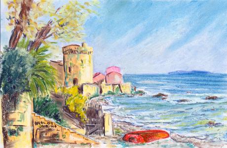 Lavasina et ses pierre vertes, Corse.