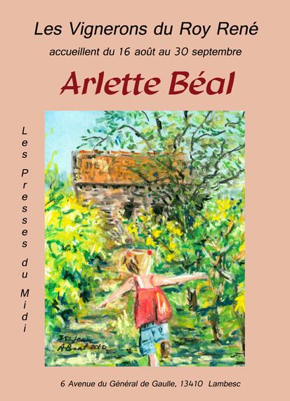 Exposition de peinture: Arlette Béal au caveau Des Vignerons du Roy René à Lambesc
