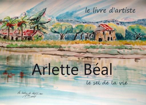 Livre d'artiste, Arlette Béal 1 p de couv, aquarelle. Tous droits réservés