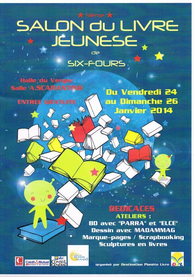 Affiche Salon du livre jeunesse 2014 à Six-Fours