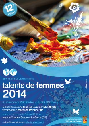 Arlette Béal participera à l'exposition Talent de Femme 2014 à La garde