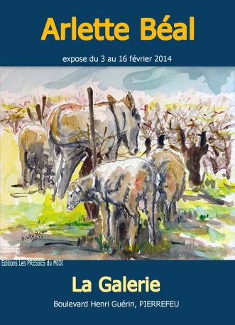 """exposition à """"La Galerie"""" de Pierrefeu de Arlette Béal"""