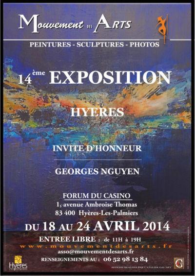 Arlette Béal sera présente à l'Exposition du Mouvement des Arts 2014 à Hyères