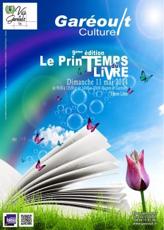 affiche printemps du livre de Garéoult 2014