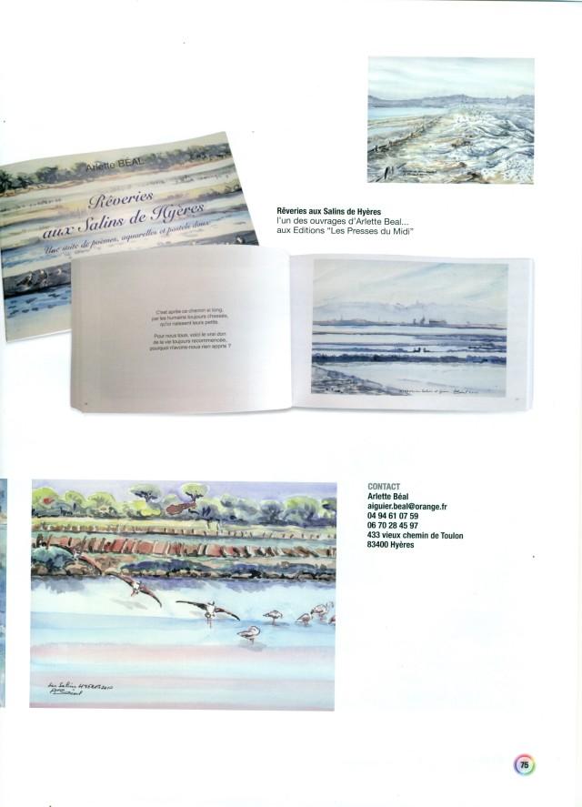 """Carnet de voyage poétique. """"Rêveries aux Salins de Hyères"""" Arlette Béal. Editions les Presses du Midi. Présentation par le l'Avenue des Arts."""
