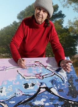 Arlette Béal peintre des Salins de Hyères