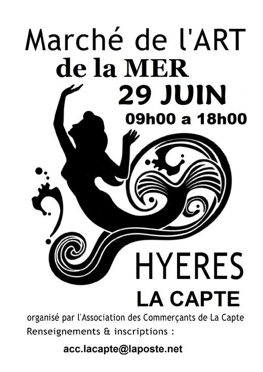 Marché de l'Art de la Mer à La Capte-Hyères le 29 juin 2014