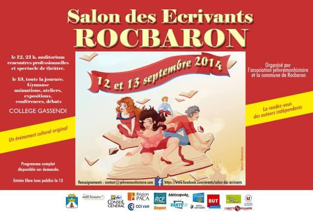 Salon des Ecrivants à Rocbaron le 12 et 13 septembre 2014