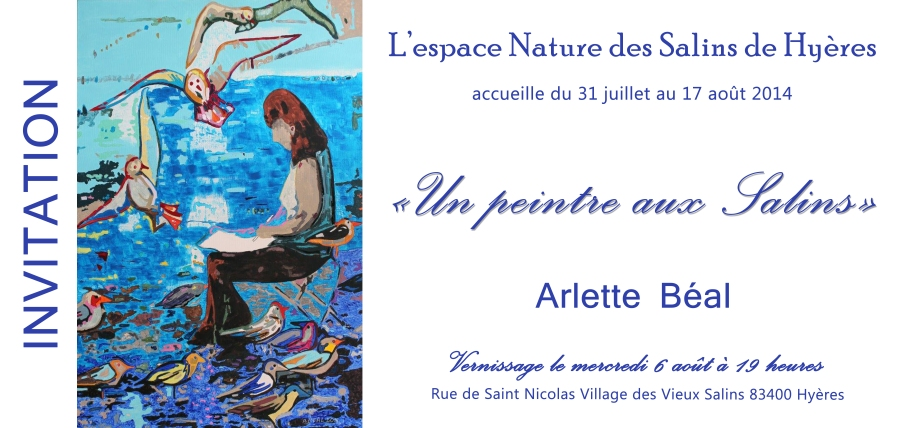 Vernissage Arlette Béal Espace Nature des Salins