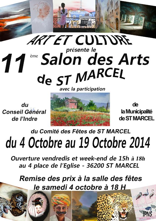 Arlette Béal participe au Salon des Arts de Saint-Marcel- Indre 2014
