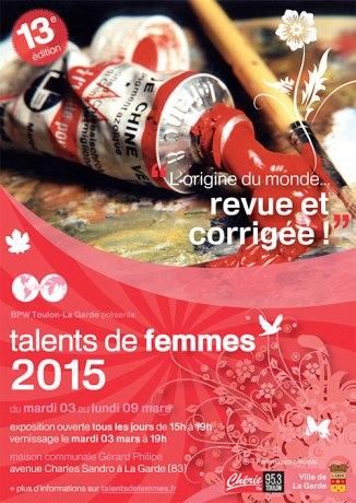 affiche Talent de femmes 2015 à la Garde