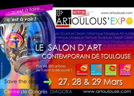 Arlette Béal envoie les Flamants de Hyères à Artoulous'expo 2015