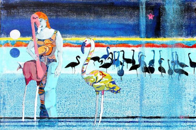 les amitiés particulières,Salins de Hyères acrylique sur toile, 92x65. de Arlette Béal. Tous droits réservés