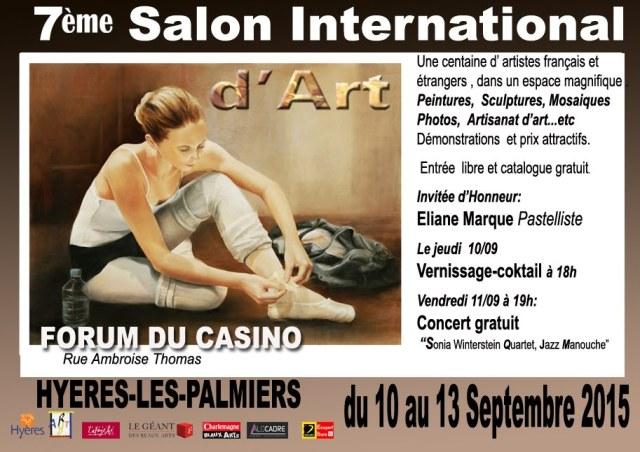 Arlette Béal participe au 7éme Salon International d'Art à Hyères 2015