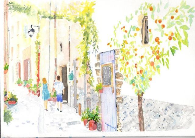aquarelle jour 2 à Hyères