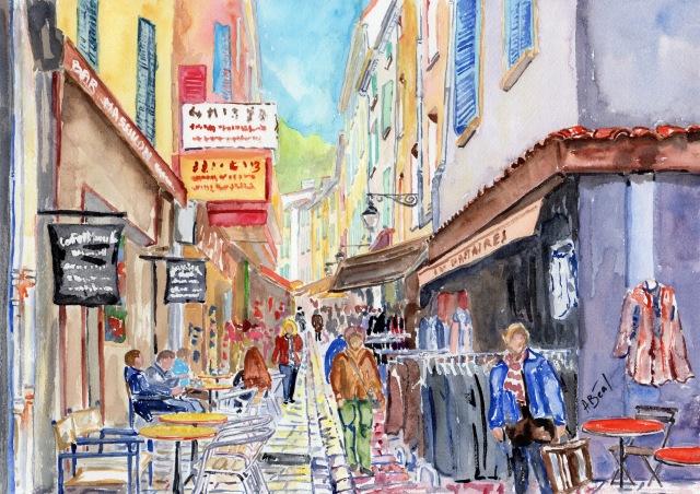 jour 5. Rue Massillon à Hyères.