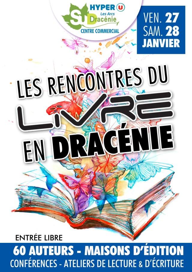 Les rencontres du livre en Dracénie 27 et 28 janvier 2017. Affiche.