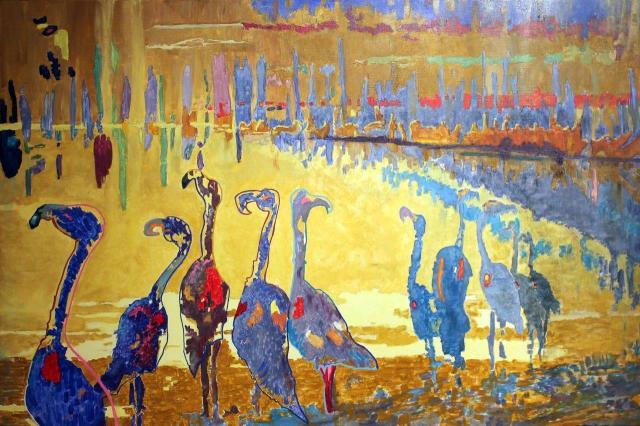 Le crépuscule des Dieux, Acrylique 92x65 sur toile. A vendre 650€